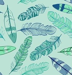 Seamless pattern of bird feathers vector