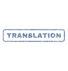 Translation textile stamp vector