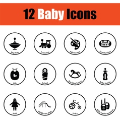 Set of baby icons vector