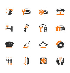 Car shop icons set vector