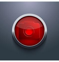 Red circle button eps10 vector