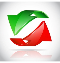 Arrow circle vector image