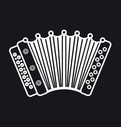 Accordion musical instrument for kid baby toy vector