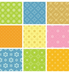 Set of light various patterns for background vector
