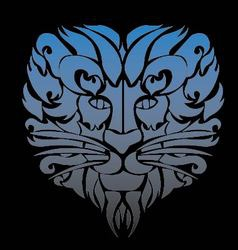 Lion face tattoo vector