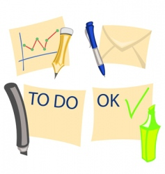 notes icons vector image