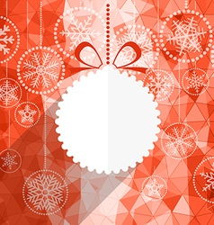 White christmas bauble and snowflake background vector