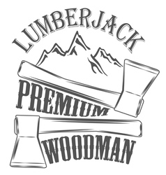 Lumberjack woodman logo and pictures vector