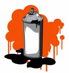spray can vector image