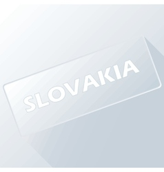 Slovakia unique button vector