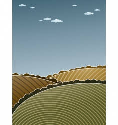 Hilly landscape vector