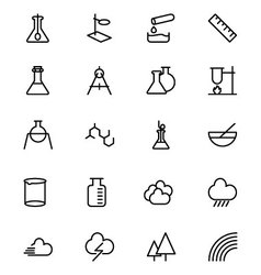 Science line icons 6 vector
