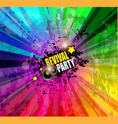 Music Club background for disco dance event vector image