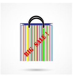 Creative abstract shopping bag vector