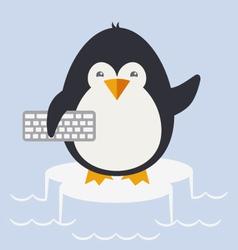 penguin programmer vector image