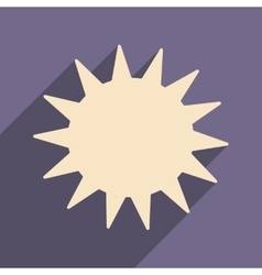 Flat with shadow icon and mobile applacation sun vector