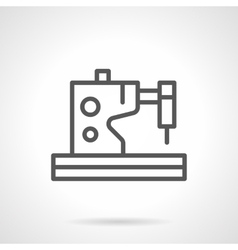 Electric sewing machines black line icon vector