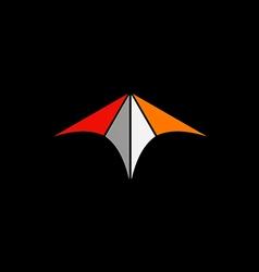 abstract arrow color technology logo vector image vector image