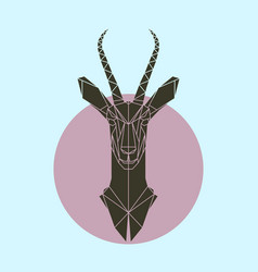 Antelope in polygonal style vector