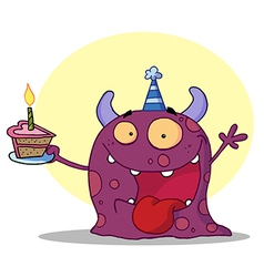 Birthday monster cartoon vector image