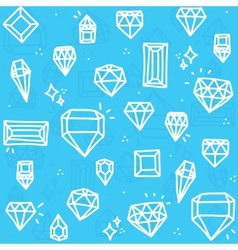 Blue diamonds vector