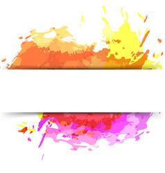 Bright modern splatter paint background vector
