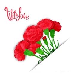 Elegant bouquet with love vector