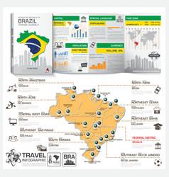 Federative republic of brazil travel guide book vector