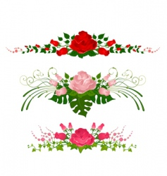 floral wreathes vector image vector image