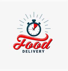food delivery design eps10 vector image