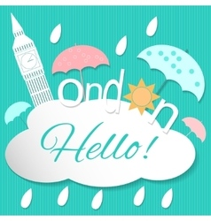 Hello London vector image vector image