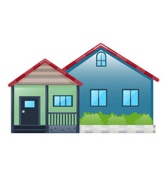 house painted in blue color vector image vector image