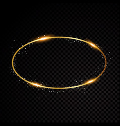 oval frame shining circle banner isolated vector image vector image