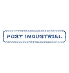 post industrial textile stamp vector image
