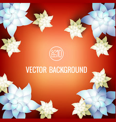 realistic botanical light template vector image vector image