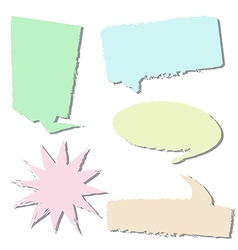 Set of style bubble talk vector image