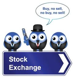 STOCK EXCHANGE SIGN vector image