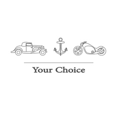 type of transport to choose vector image