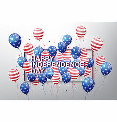 usa flag pattern balloons with 4th of july concept vector image