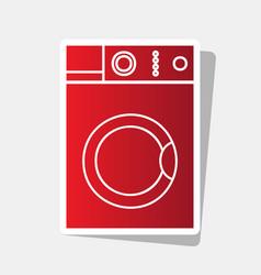 washing machine sign  new year reddish vector image
