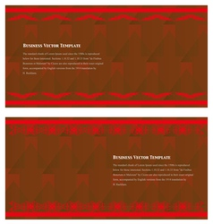The Business Card vector image