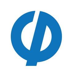 Gp business or technology letter logo desig vector