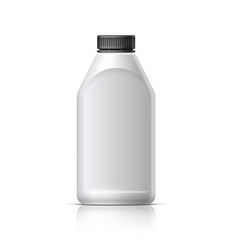 Blank bottle realistic on white background vector