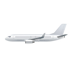 Flying airplane jet aircraft airliner vector