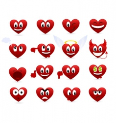 Cartoon hearts vector