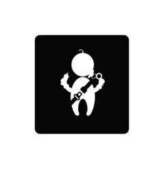 Baby with seat belt icon vector
