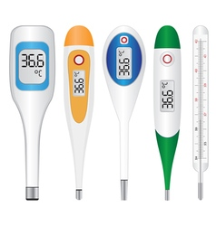 Electronic thermometers vector