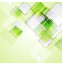 Light green squares abstract background vector