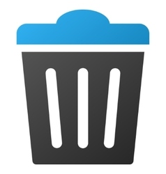 Trash can gradient icon vector
