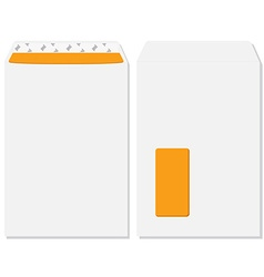 Envelope front and back view vector image